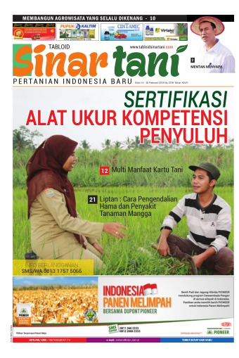 Tabloid Sinar Tani - edisi 3738