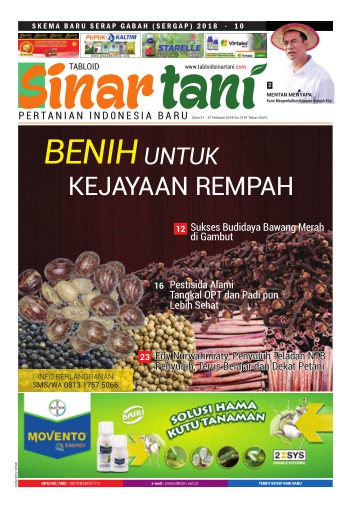 Tabloid Sinar Tani - edisi 3739