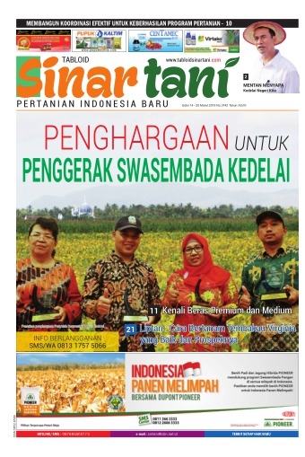 Tabloid Sinar Tani - edisi 3742