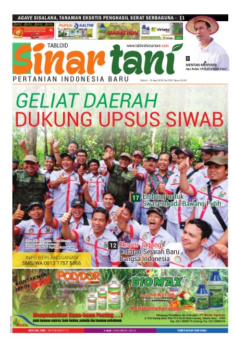 Tabloid Sinar Tani - edisi 3745