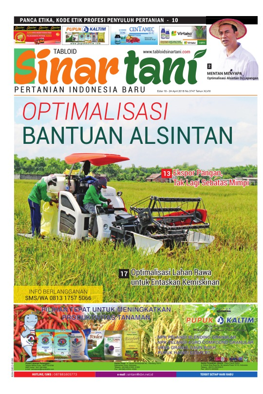 Tabloid Sinar Tani - edisi 3747