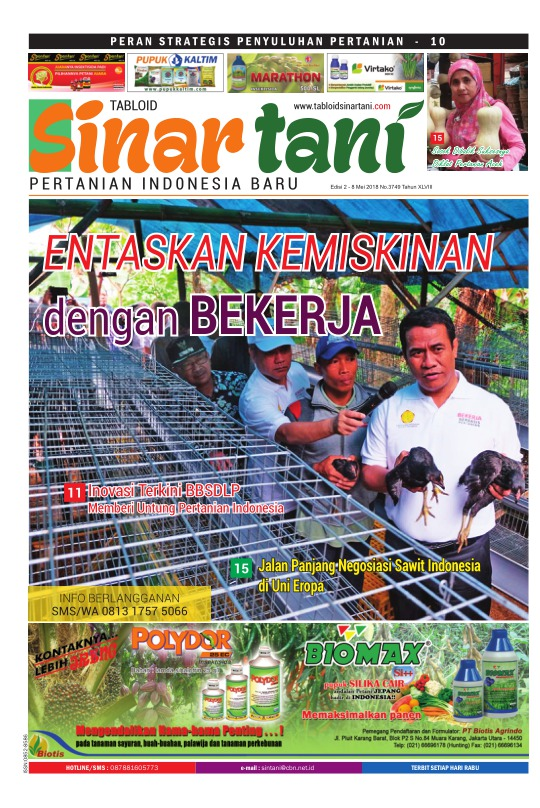 Tabloid Sinar Tani - edisi 3749
