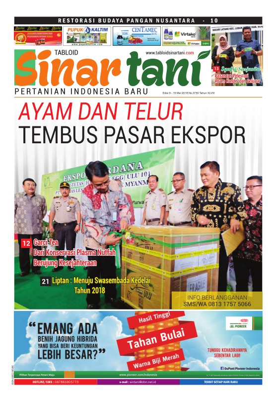 Tabloid Sinar Tani - edisi 3750