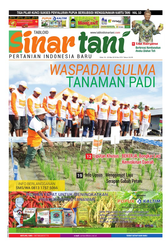 Tabloid Sinar Tani - edisi 3751