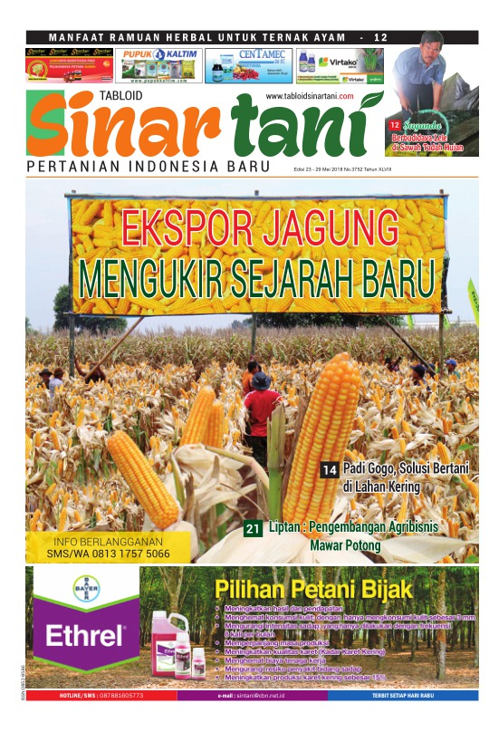 Tabloid Sinar Tani - edisi 3752