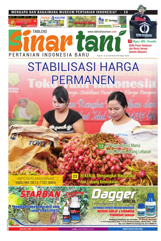 Tabloid Sinar Tani - edisi 3753