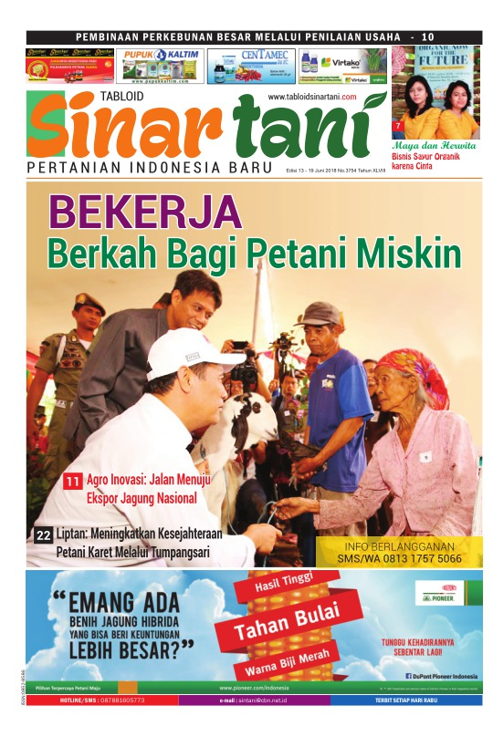 Tabloid Sinar Tani - edisi 3754