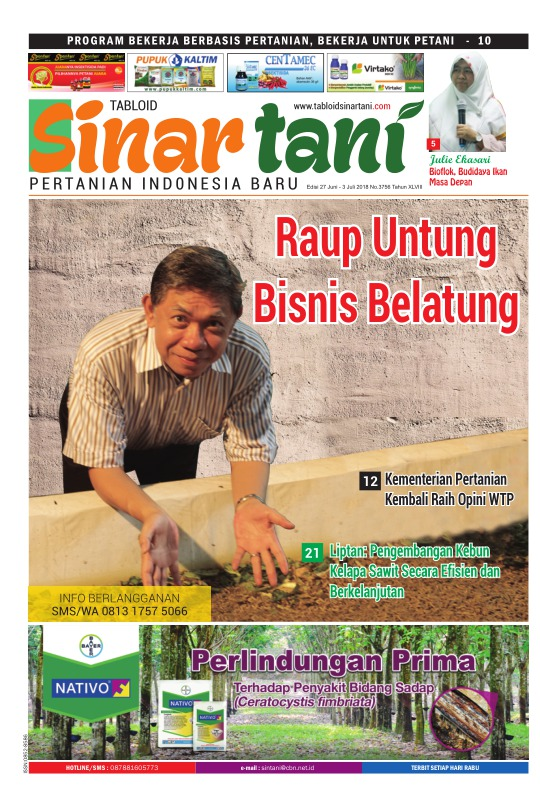 Tabloid Sinar Tani - edisi 3756
