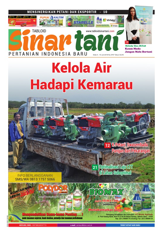 Tabloid Sinar Tani - edisi 3757