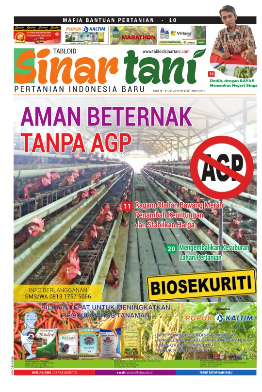 Tabloid Sinar Tani - edisi 3759