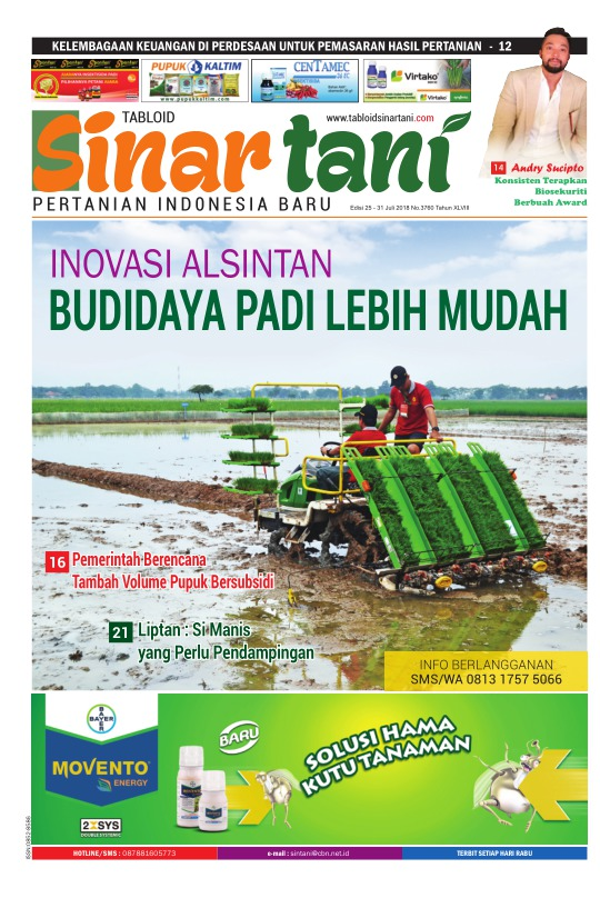 Tabloid Sinar Tani - edisi 3760