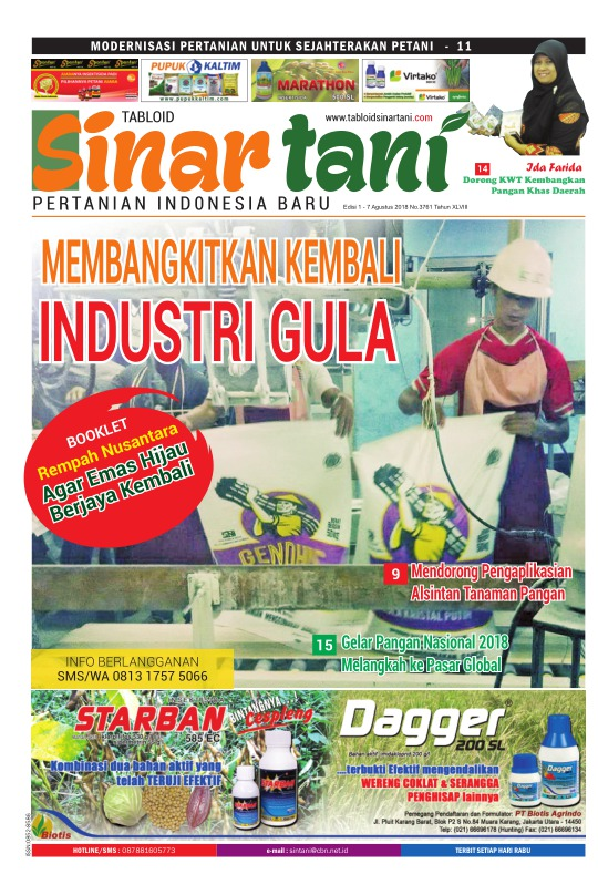 Tabloid Sinar Tani - edisi 3761