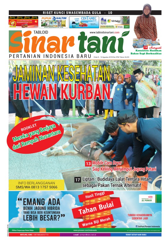 Tabloid Sinar Tani - edisi 3762