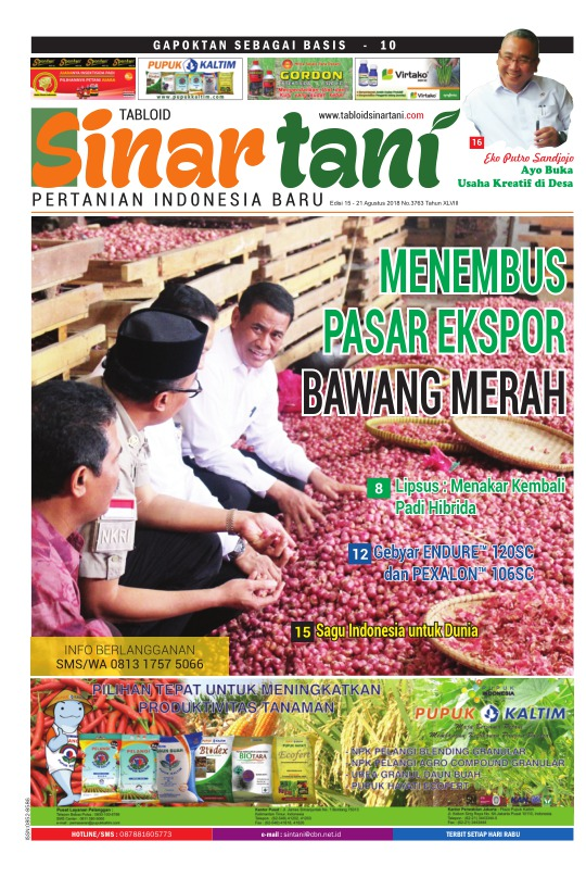 Tabloid Sinar Tani - edisi 3763