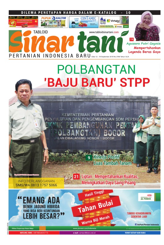 Tabloid Sinar Tani - edisi 3766