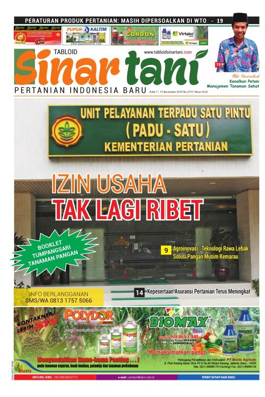 Tabloid Sinar Tani - edisi 3773