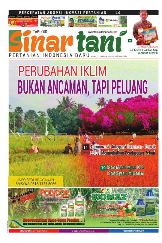 Tabloid Sinar Tani - edisi 3777