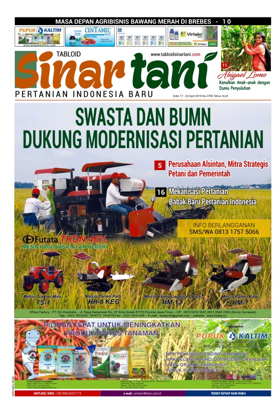 Tabloid Sinar Tani - edisi 3795