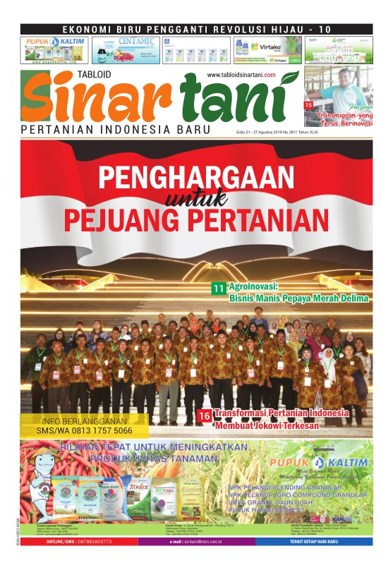 Tabloid Sinar Tani - edisi 3811